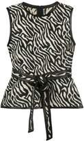 DSQUARED2 zebra print top with waist tie
