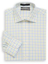 Saks Fifth Avenue Classic-Fit Check Cotton Dress Shirt