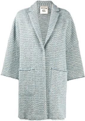 Semi-Couture Oversize Tweed Coat