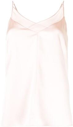 Adam Lippes Sheer-Panel Silk Top