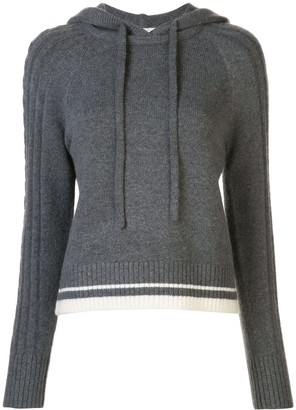 Duffy Knitted Cashmere Hooded Jumper