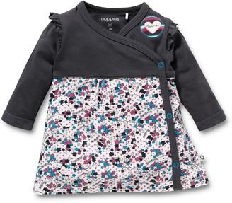 Noppies Girls' Grey 95% Cotton 5% Elastane Dress Size 56cm (0-3 Months)