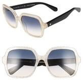 Kate Spade Women's 'Katels' 54Mm Sunglasses - Opal/ Gold Glitter