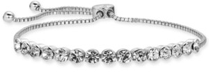 Charter Club Rose Gold-Tone Crystal Slider Bracelet, Created for Macy's