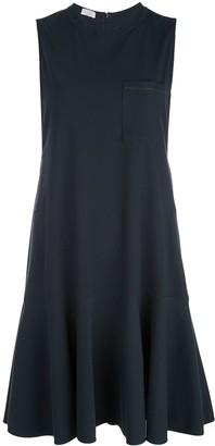 Brunello Cucinelli flared style front pocket dress