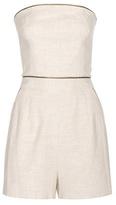 Tamara Mellon Cotton And Linen-blend Playsuit