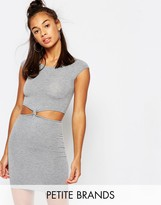 Boohoo Petite Cut Out Side Knot Dress