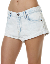 Rusty Get Cuffed Womens Denim Short White