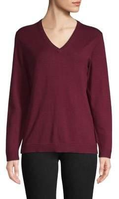 Isaac Mizrahi Imnyc Long Sleeves V Neck Sweater