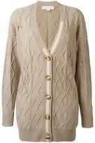 Stella McCartney distressed cable knit cardigan - women - Cashmere/Wool - 42