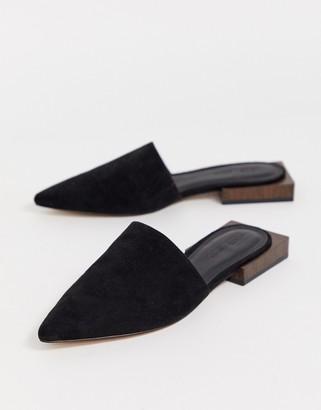 Asos Design DESIGN Magic flat mules in black