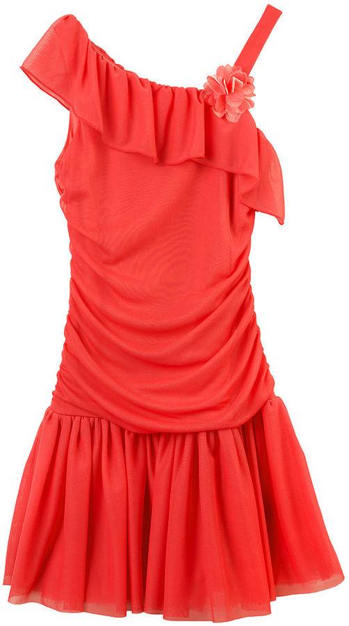 Amy Byer BCX Kids Dress, Girls Ruffle One Shoulder Dress
