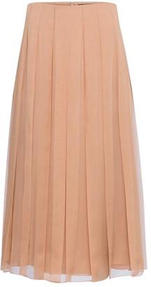Gucci Pleated silk chiffon midi skirt