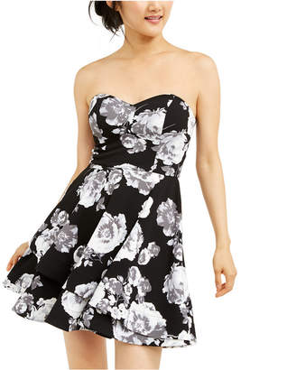 B. Darlin Juniors' Allover-Floral Dress