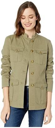 Lauren Ralph Lauren Stretch-Cotton Canvas Jacket (Raw Cotton) Women's Clothing