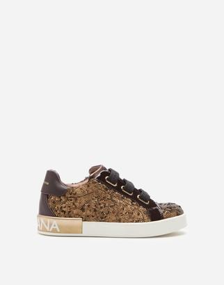 Dolce & Gabbana Sequinned Portofino Custom Sneakers