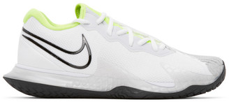 Nike White and Black NikeCourt Air Zoom Vapor Cage 4 Sneakers