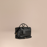 Burberry Check Embossed Leather Holdall