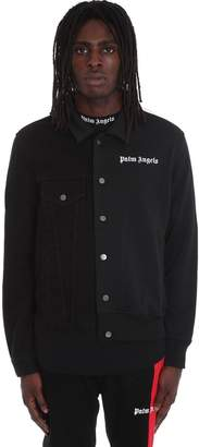 Palm Angels Casual Jacket In Black Tech/synthetic