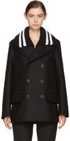 Givenchy Black Wool Double-breasted Peacoat