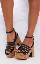 PrettyLittleThing Black Chunky Platform Sandals