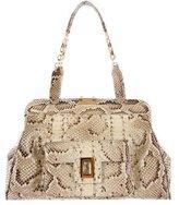 Kara Ross Python Frame Bag