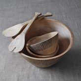 Sur La Table White Mango Wood Serving Bowl