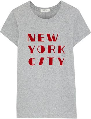 Rag & Bone Vintage Nyc Flocked Pima Cotton-jersey T-shirt