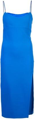 HANEY side slit fitted dress