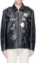 Calvin Klein 'Embossed Policeman' calfskin leather jacket