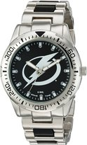 Game Time Men's NHL-HH-TB Heavy Hitter Analog Display Japanese Quartz Silver Watch