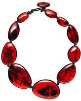 Jackie Brazil Riverstone Tortoise Short Necklace, Red