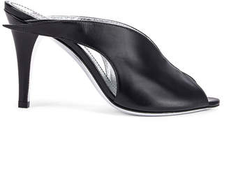 Givenchy Wing Heel Mules in Black | FWRD