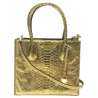Michael Kors Adele Gold Leather Handbags