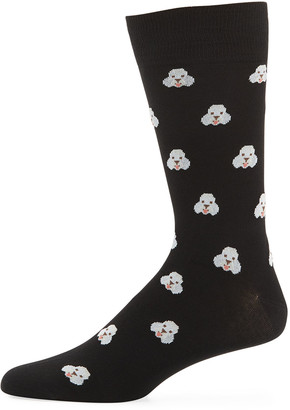 Paul Smith Men's Doggo Cotton-Blend Socks