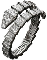 Bulgari Serpenti 18K White Gold Pave Diamond Bracelet