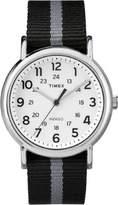 Timex Sport Weekender Stripe TW2P72200 Black / Silver / White Nylon Analog Quartz Unisex Watch
