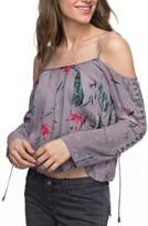 Roxy Women's Paradise Ocean Print Off The Shoulder Top