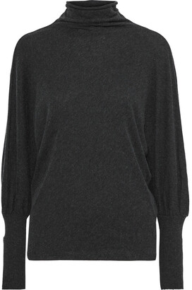 Enza Costa Draped Cotton And Cashmere-blend Turtleneck Sweater