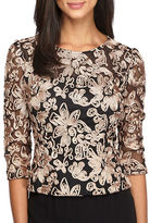 Alex Evenings Emboidered Floral Top