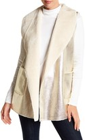 Dolce Cabo Faux Fur Lined Metallic Vest
