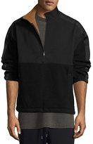 Yeezy Nylon & Polar Fleece Pullover Sweatshirt, Black