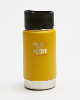 Klean Kanteen Yellow Water bottles - 12oz Wide Insulated Cafe Cap - Size One Size at The Iconic