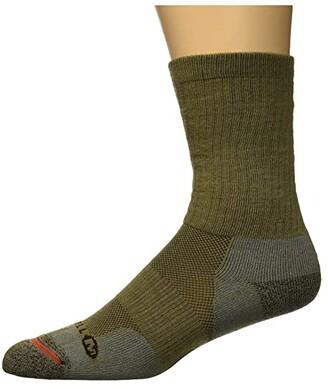 Merrell Work Crew Sock (Brindle) Men's Crew Cut Socks Shoes