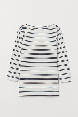 H&M Boat-necked jersey top