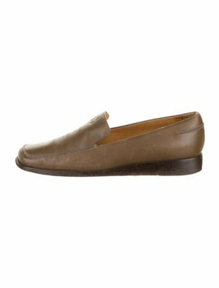 Hermes H Logo Leather Loafers Brown