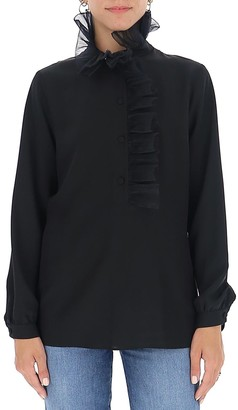 Gucci Square G Ruffled Blouse