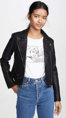 Cupcakes And Cashmere Ines Vegan Leather Jacket