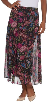 Linea by Louis Dell'Olio Regular Floral Print Pull-On Soft Skirt