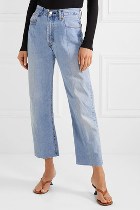 E.L.V. Denim - Net Sustain The Twin Boyfriend High-rise Straight-leg Jeans - Light denim
